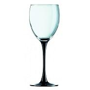 Domino Wine Goblet BlackStem 8.75oz 25cl  Carton of 12