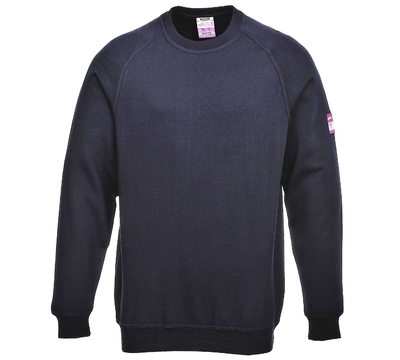 FR12 MODAFLAME Flame Retardant Anti Static Sweat Shirt Navy