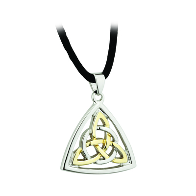 TWO TONE PLATED CELTIC KNOT PENDANT