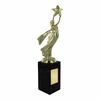 23cm Gold Victory Award on Marble