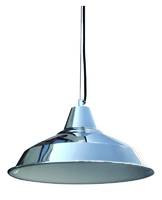 ONE Light Chrome Pendant, E27 Lamp Required