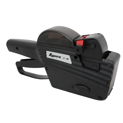LYNX C-06 One-Line Price Gun with 6 Numeric Bands for Oval Labels
