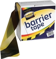 70MM X 500MT BARRIER TAPE YELLOW BLACK