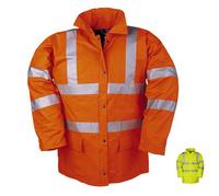 FLEXOTHANE 7650 PU Hi-Visibility Waterproof Lined Jacket Yellow or Orange