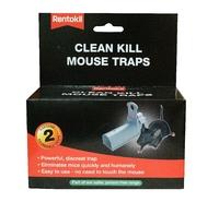 RENTOKIL CLEAN KILL MOUSE TRAP TWIN PAK