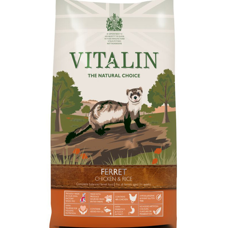 Vitalin Chicken & Rice Ferret Food 2kg