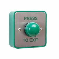 RGL Stainless Steel Press to Exit unit with Large Green button