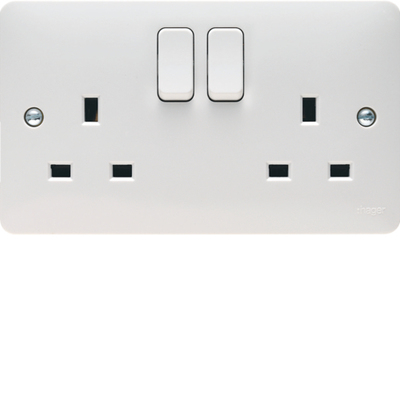 13A 2G 2 Pole Switched Socket Dual Earth | LV0301.0744