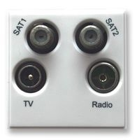 Triax TV/Radio/Sat/Sat 2 Insert White(304264)