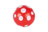 Ball Red with white dots. set of 6.
