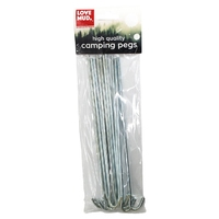 Kingfisher 10 Pack Galvanised Steel Tent Ground Pegs (OLPS)