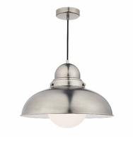 Dynamo 1 Light Large Pendant, Antique Chrome | LV1802.0061