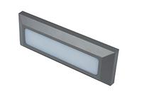 TWILIGHT 3W LED rectangular wall li ght, IP65, Grey, 3000K