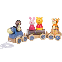 Winnie the Pooh and friends pull-along train