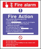Fire Action Sign FACT0004-0441