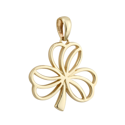 14K MEDIUM SHAMROCK CHARM(BOXED)
