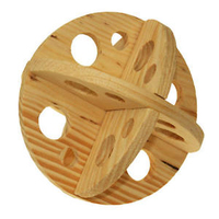 Ancol Wooden Roll 'N' Chew - Plain Wood x 1