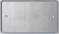 DETA Flat Plate 2G blank plate  Satin Chrome | LV0201.0222