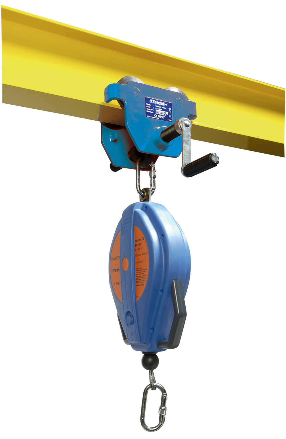 Tractel Roll Beam push trolley for man-riding applicatons