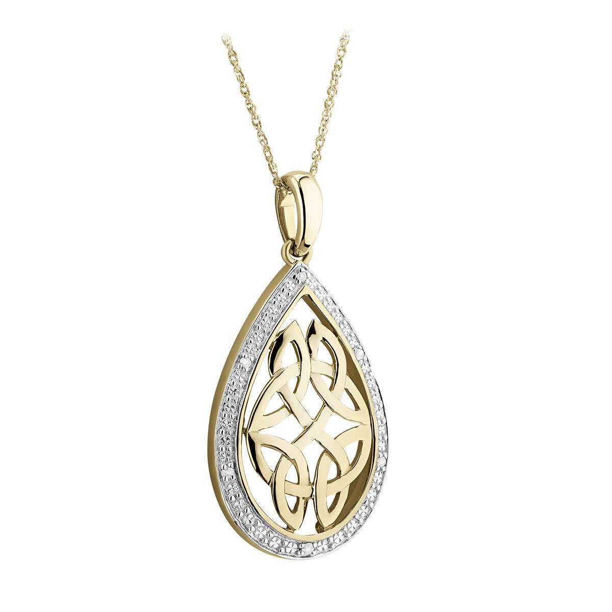 10k gold diamond celtic knot pendant s46511 from Solvar