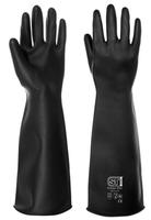Prochem Rubber Gloves, 55 cm, Black