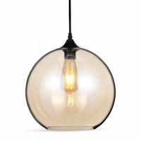 Light Amber Globe Glass Pendant