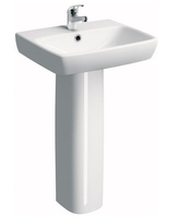 SONAS E100 SQUARE 550 BASIN W550 X D440 MM WITH FULL PEDESTAL