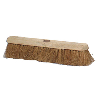 "18"" Contract Soft Natural Coco Platform Broom Head Only (WT497)"