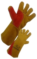 Premium Gold Welders Gauntlets - 14""