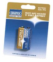 Draper 9V Heavy Duty Alkaline Battery