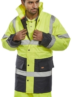 Two-Tone Hi-Vis Motorway Traffic Jacket