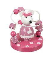 Bead Frame - Pink Mouse. (Priced in singles, order in multiples of 2)