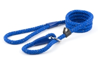 "Ancol Nylon Reflective Rope Slip Lead 1/2"" x 59"" Blue x 1"