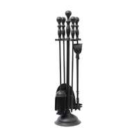 Leecroft Black Turn Handle Companion Set 25""