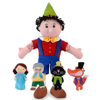 Pinocchio Hand and Finger Puppet Set