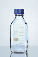 Square Reagent Bottle, Clear 1Ltr