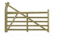 8' Softwood Estate Entrance Gate R/H PAR Treated