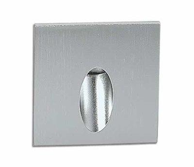 ONE Light Square Aluminium Recessed 3W LED Wall Light IP54 Warm White