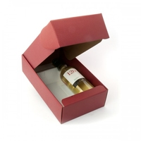 BOX GIFT/WINE 2B 340X185X90 BURGUNDY