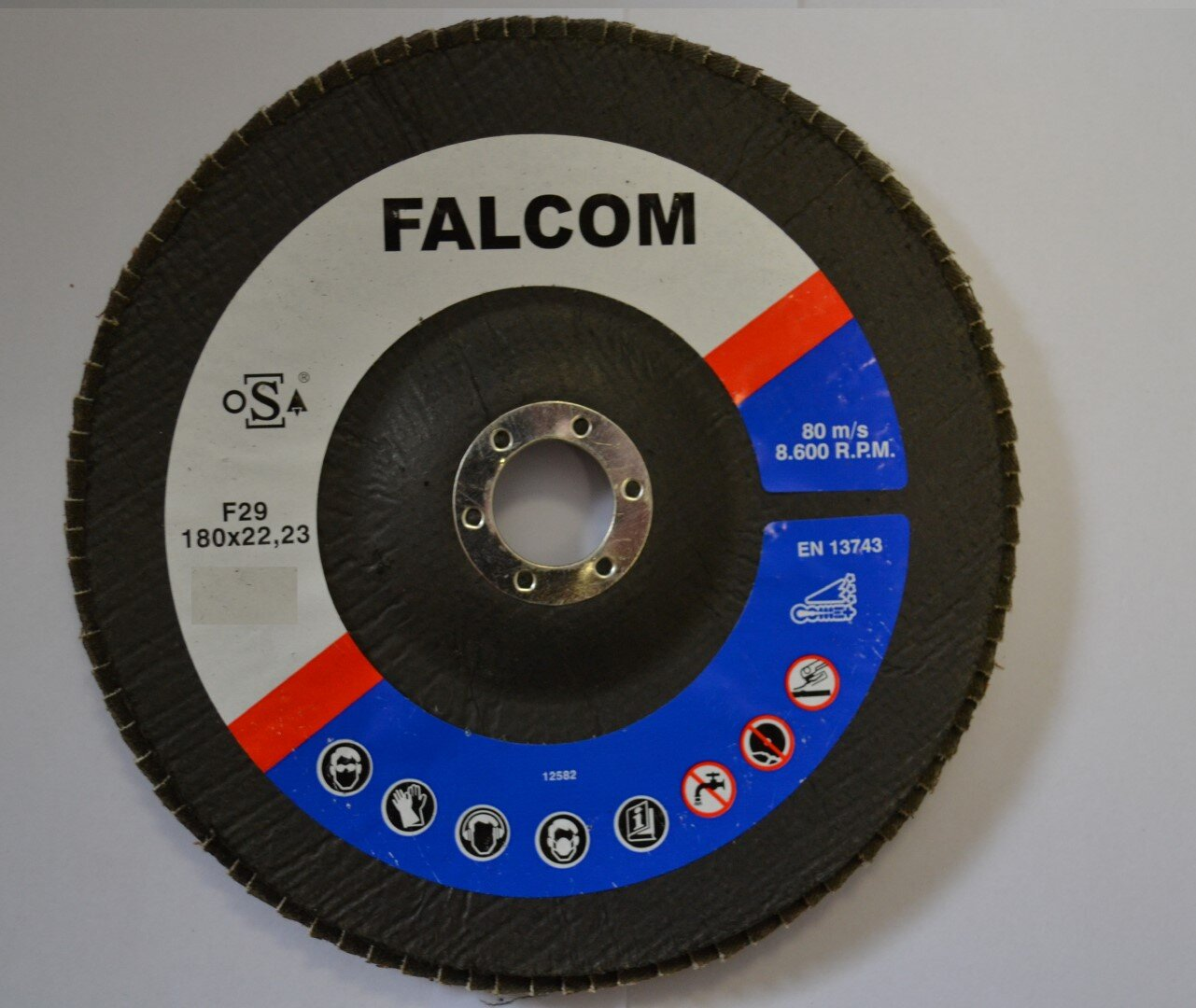 FALCOM 180x22mm GRIT 80 MOP DISC