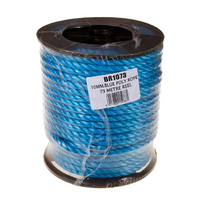 10mm Blue Poly Rope Reel 73m (C484)