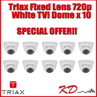 Triax Fixed Lens 720p TVI Dome  White X 10
