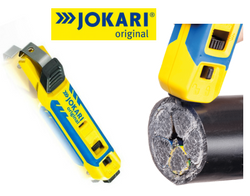 The Jokari cable knife System 4-70 provides an efficient one tool solution for stripping and dismantling all cables from 4-70mm diameter.