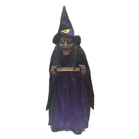 Halloween Black and Purple Witch - 95cm