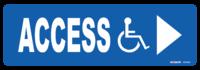 Disabled Logo ACCESS With RH Arrow