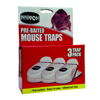 NIPPON PAK 3 PRE BAITED MOUSE TRAP