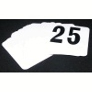 Banquet Table No Set PVC White with Black Numbers 1-25 incl