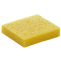 Soldering Iron Solder Tip Welding Cleaning Sponge Yellow Pack of 10pcs