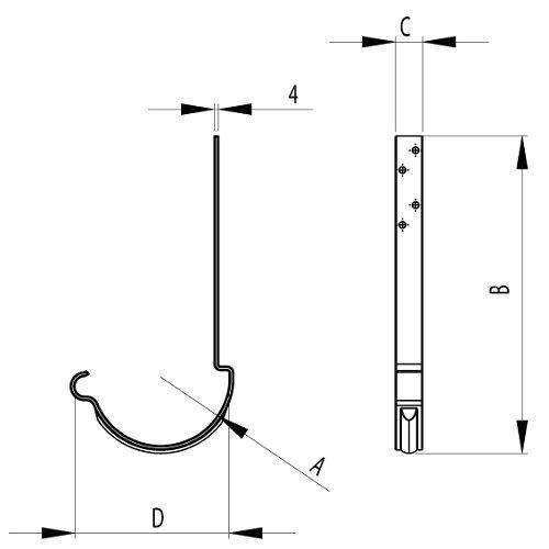 Steel Rafter Bracket Drawing