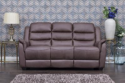 Vivo Brown Fabric Sofa 3